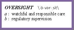 Oversight definition