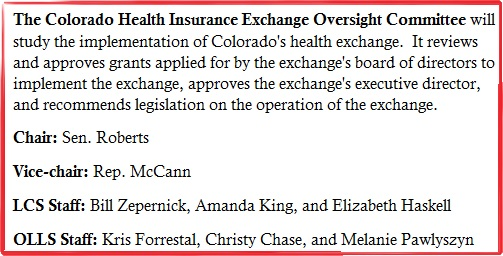 Colorado Health Insurance Exchange Oversight Committee