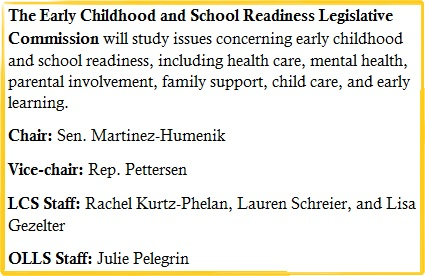 Early Childhood and School Readiness Legislative Commission