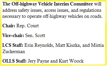 Off-highway Vehicle Interim Committee