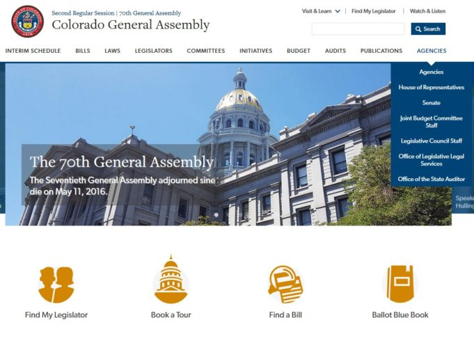 Colorado General Assembly's New Website is Live!