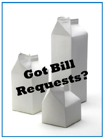 "Got Bill Requests? Next Step is the ""Bill Order"""