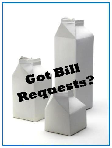 "Got Bill Requests? Next Step is the ""Bill Order"""