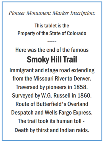 Just Outside Our Doors - A Tribute to Colorado's Pioneers and Pioneer Spirit